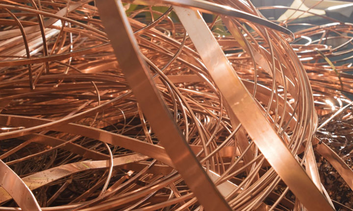 Kupfer Metall Schrott